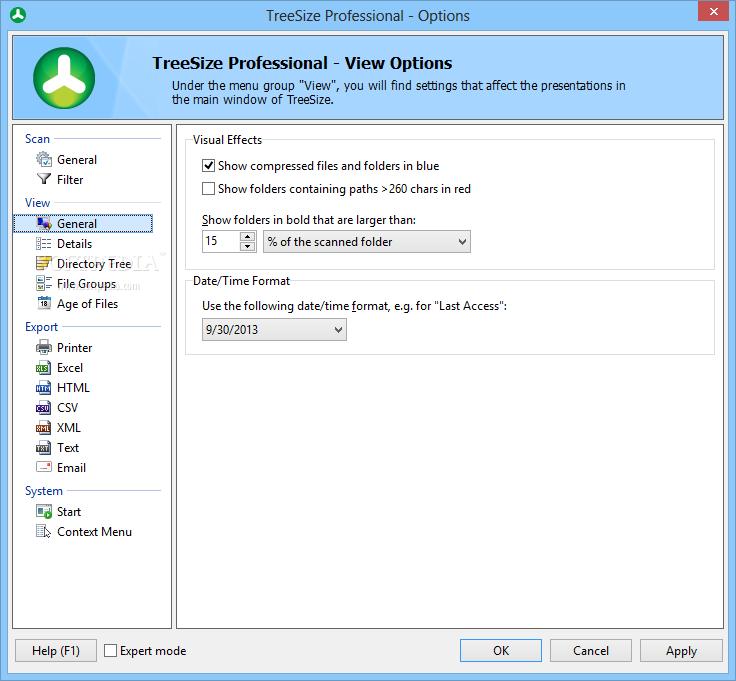 screenshot.TreeSize.Professional 3 نرم افزار بررسی فضای هارد دیسک TreeSize Professional 6 0 3 953
