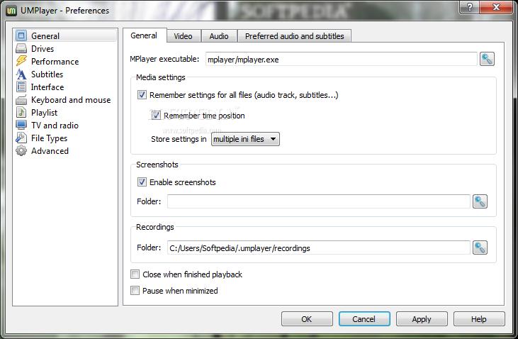screenshot.UMPlayer 2 نرم افزار پخش فایل های صوتی و تصویری UMPlayer v0 98