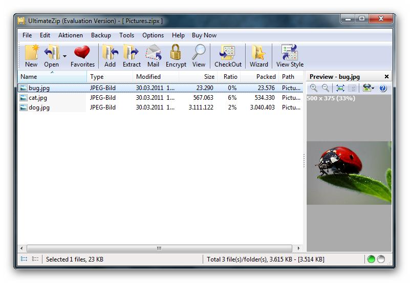 screenshot.UltimateZip 2 نرم افزار فشرده سازی اطلاعات UltimateZip 7 0 4 1