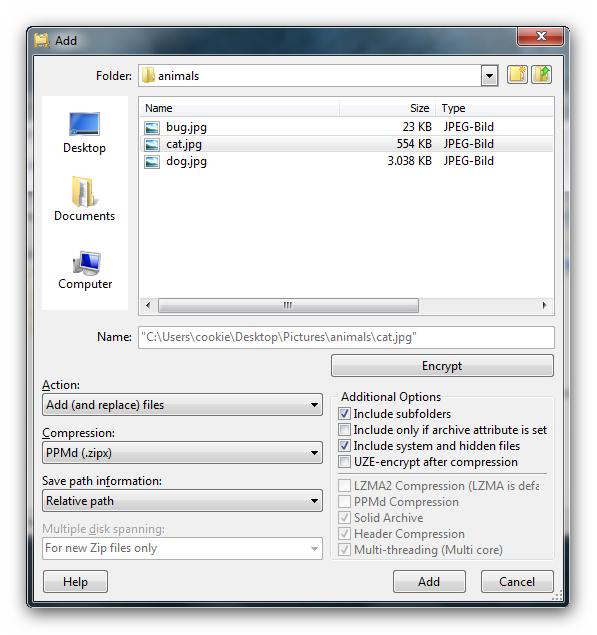 screenshot.UltimateZip 3 نرم افزار فشرده سازی اطلاعات UltimateZip 7 0 4 1