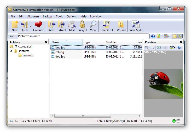 screenshot.UltimateZip 5 دانلود نرم افزار فشرده سازی اطلاعات UltimateZip 7 0 1