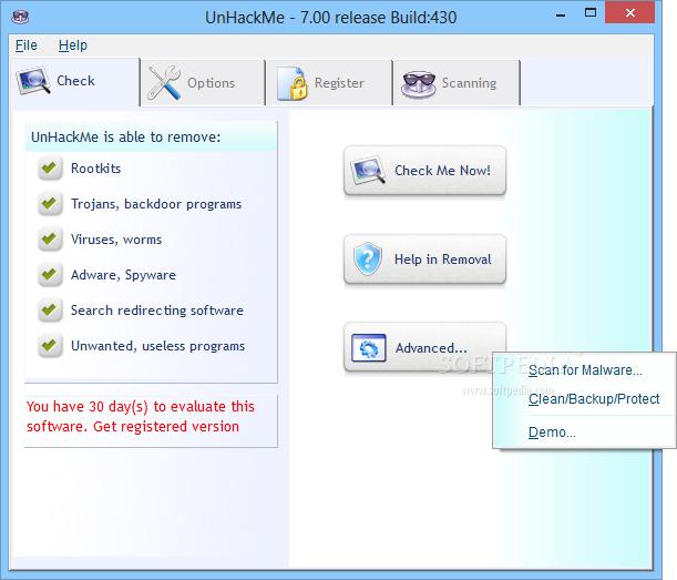 screenshot.UnHackMe 3 نرم افزار ضد هک UnHackMe 7 10 Build 434