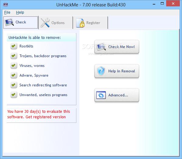 screenshot.UnHackMe 4 نرم افزار ضد هک UnHackMe 7 10 Build 434