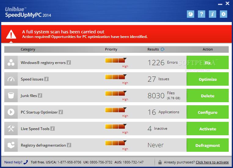 screenshot.Uniblue.SpeedUpMyPC 1 نرم افزار بهینه سازی سرعت ویندوز Uniblue SpeedUpMyPC 2014 6 0 2 0