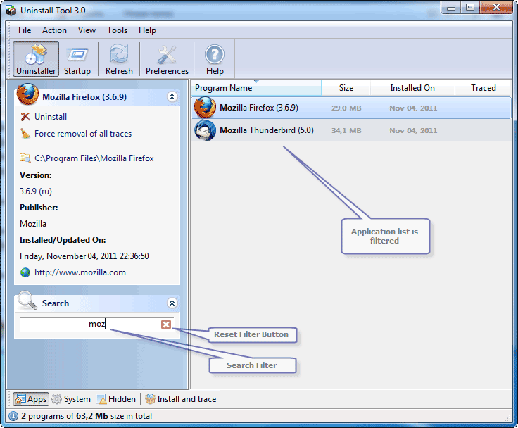 screenshot.Uninstall.Tool 2 نرم افزار حذف کامل برنامه های نصب شده Uninstall Tool 3 3 3 Build 5322