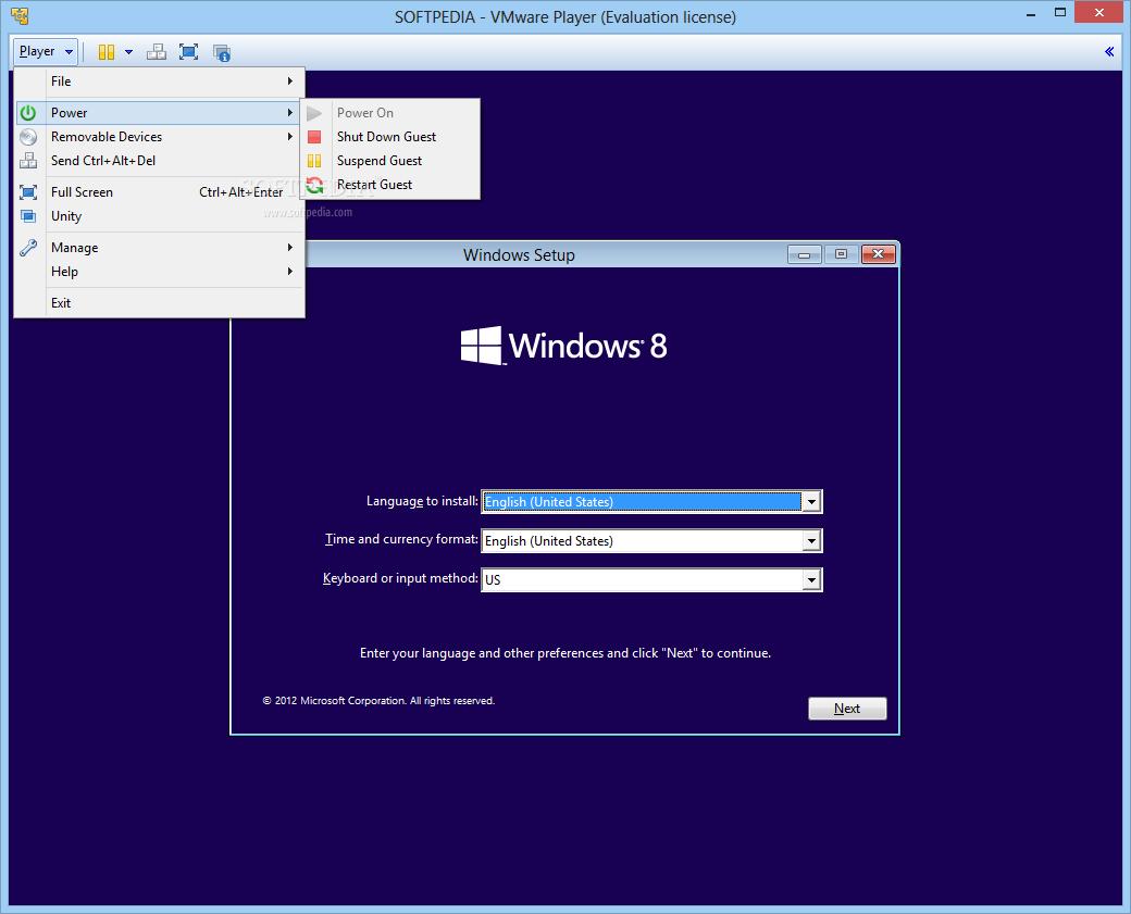 screenshot.VMware.Player 1 نرم افزار مجازی ساز VMware Player 6 0 2 Build 1744117 Final