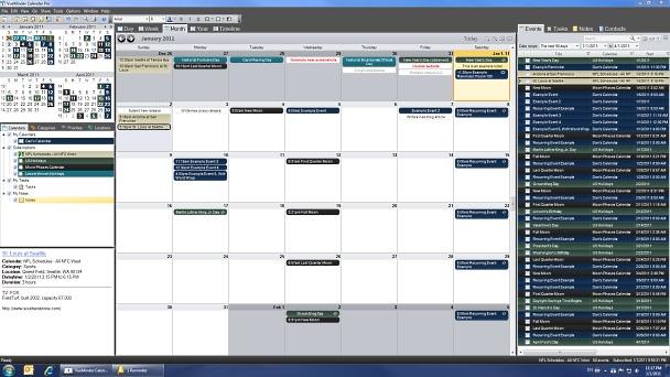 screenshot.VueMinder 1 نرم افزار تقویم برای ویندوز VueMinder Ultimate 11 1 0