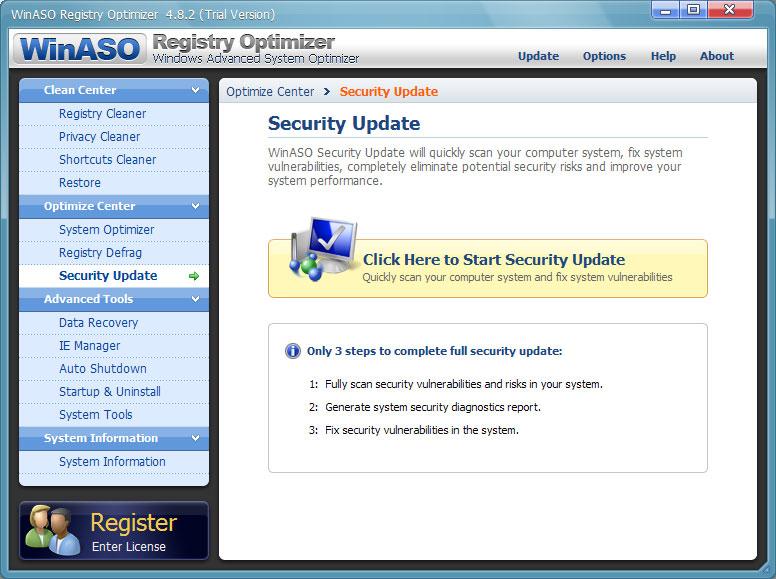 screenshot.WinASO.Registry.Optimizer 1 دانلود نرم افزار بهینه سازی رجیستری WinASO Registry Optimizer 4 8 5 0