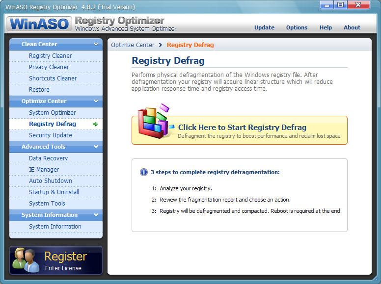 screenshot.WinASO.Registry.Optimizer 2 دانلود نرم افزار بهینه سازی رجیستری WinASO Registry Optimizer 4 8 5 0