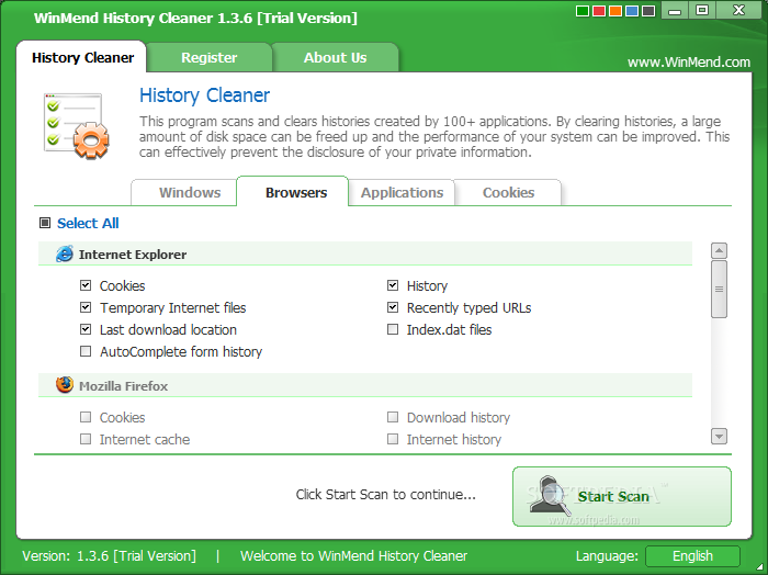 screenshot.WinMend.History.Cleaner.2 نرم افزار حذف تاریخچه ها WinMend History Cleaner 1 4 5