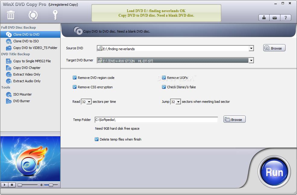 screenshot.WinX .DVD .Copy .Pro .1 نرم افزار کپی دی وی دی WinX DVD Copy Pro 3 6 2