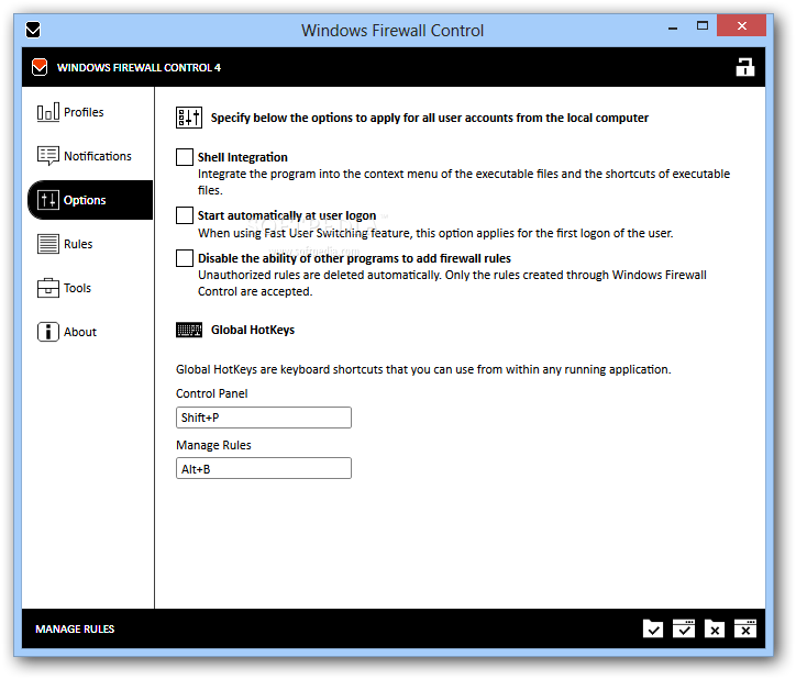screenshot.Windows.Firewall.Control 1 مدیریت فایروال ویندوز Windows Firewall Control 4 0 8 6
