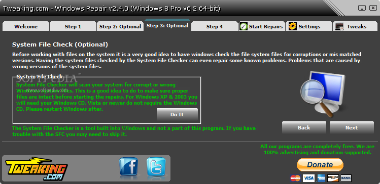 screenshot.Windows.Repair 1 نرم افزار تعمیر ویندوز خراب Windows Repair 2 5 1