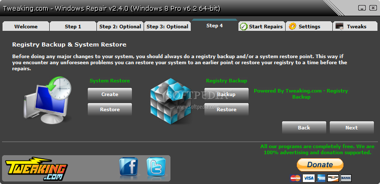screenshot.Windows.Repair 2 نرم افزار تعمیر ویندوز خراب Windows Repair 2 5 1