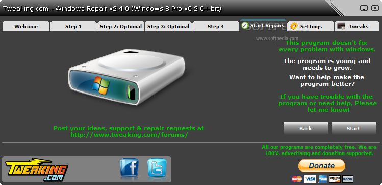 screenshot.Windows.Repair 3 نرم افزار تعمیر ویندوز خراب Windows Repair 2 5 1