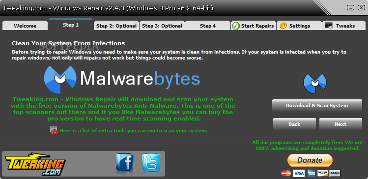screenshot.Windows.Repair 4 نرم افزار تعمیر ویندوز خراب Windows Repair 2 5 1
