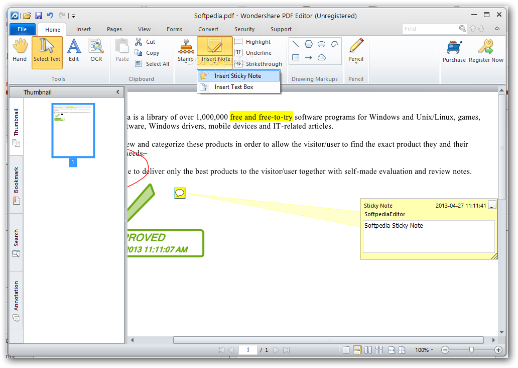 screenshot.Wondershare.PDF.Editor 2 دانلود Wondershare PDF Editor 3.9.5.5 نرم افزار ویرایش فایل های پی دی اف