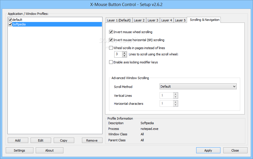 screenshot.X Mouse Button Control 1 نرم افزار مدیریت دکمه های موس X Mouse Button Control 2 7 Final