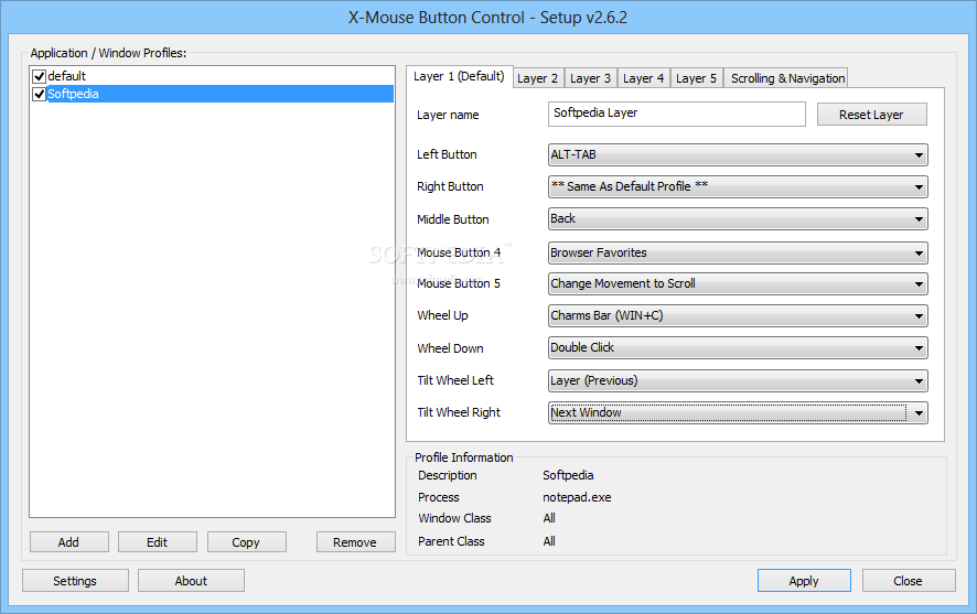 screenshot.X Mouse Button Control 2 نرم افزار مدیریت دکمه های موس X Mouse Button Control 2 7 Final