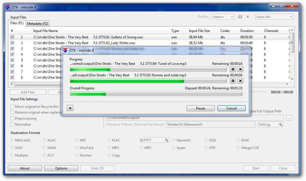 screenshot.XRecode.1 نرم افزار تبدیل فایلهای صوتی XRecode II 1 0 0 211