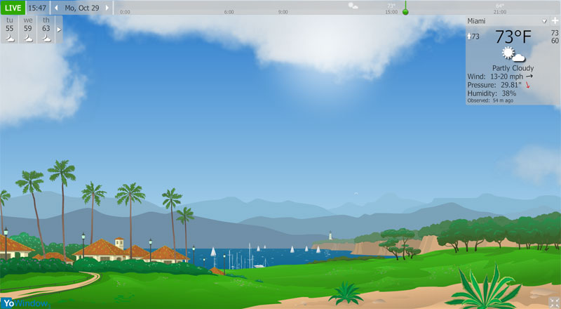 screenshot.YoWindow.Unlimited.Edition 3 دانلود نرم افزار دیدن کردن و نمایش اوضاع آب و همچنین هوا YoWindow