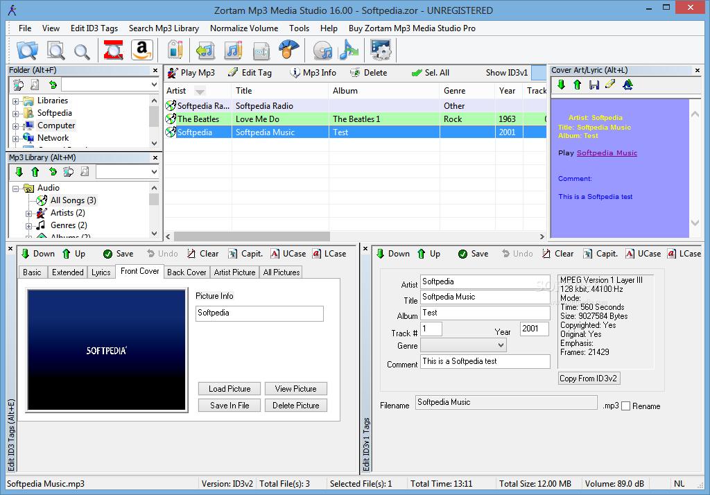 screenshot.Zortam Mp3 Media Studio Pro نرم افزار مدیریت فایلهای ام پی تری Zortam Mp3 Media Studio Pro 17 70 Final