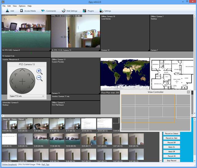 screenshot.iSpy  دانلود iSpy 6.2.3.0 نرم افزار تبدیل وبکم به دوربین مداربسته
