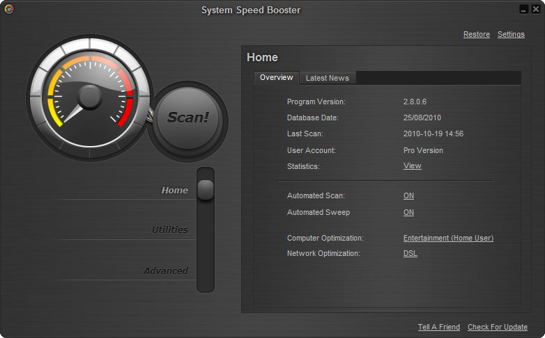 screenshot1 نرم افزار بهینه ساز System Speed Booster 3 0 8 2