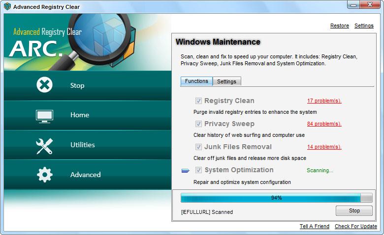 screenshots.Advanced.Registry 1 نرم افزار بهینه سازی ریجستری Advanced Registry Clear 2 3 9 6