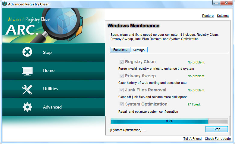 screenshots.Advanced.Registry 2 نرم افزار بهینه سازی ریجستری Advanced Registry Clear 2 3 9 6