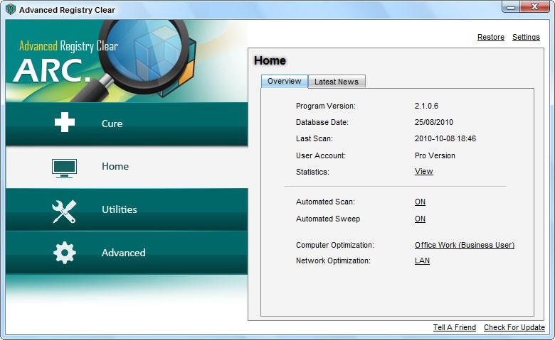 screenshots.Advanced.Registry.Clear5  نرم افزار بهینه سازی ریجستری Advanced Registry Clear 2 3 9 6