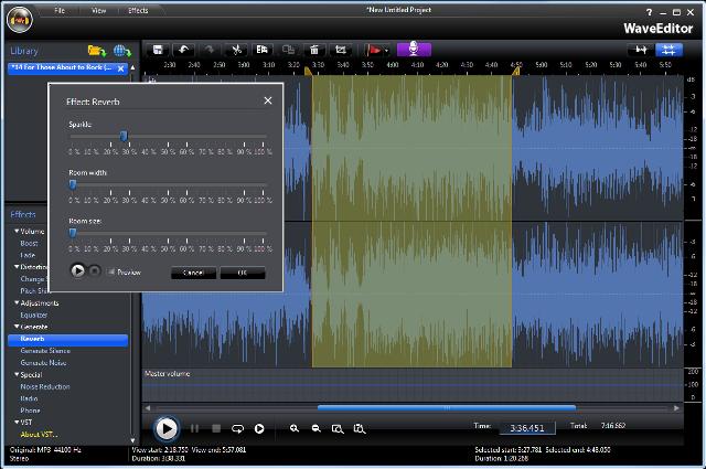 sfds دانلود نرم افزار ویرایشگر فایل های صوتی CyberLink WaveEditor 2.0