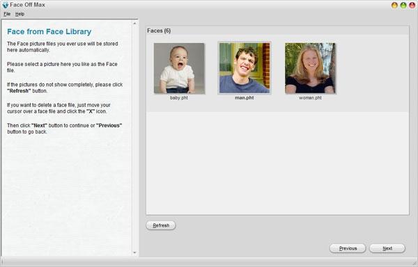 smallscreenshot 4 دانلود Face Off Max 3.6.3.8 نرم افزار تغییر چهره افراد
