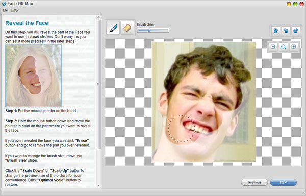 smallscreenshot 6 دانلود Face Off Max 3.6.3.8 نرم افزار تغییر چهره افراد