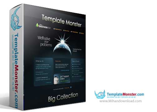 templatemonster.cover  دانلود قالبهای آماده وب سایت 2014 Template Monster Big Collection