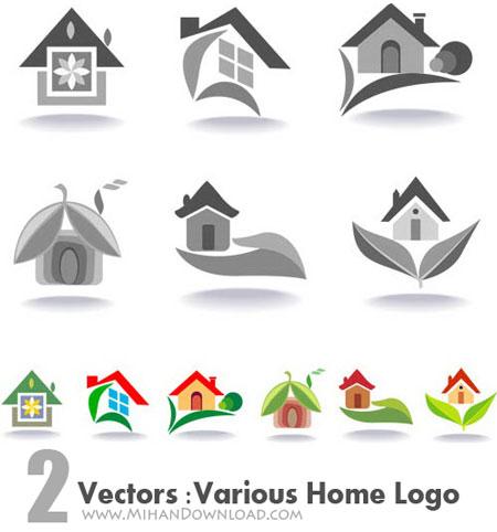 vectors various home logo دانلود Vectors Various Home Logo وکتور لوگو مختلف خانه