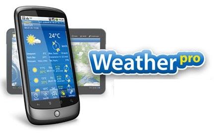 weather دانلود نرم افزار پیش بینی وضعیت آب و هوا WeatherPro 4.1.4 اندروید