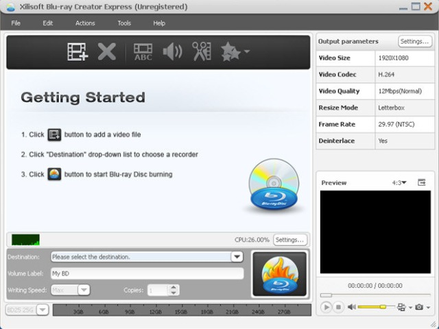 xilisoft blu ray creator express 24 دانلود Xilisoft Blu ray Creator 2 0 4 نرم افزار ساخت دیسک های بلوری