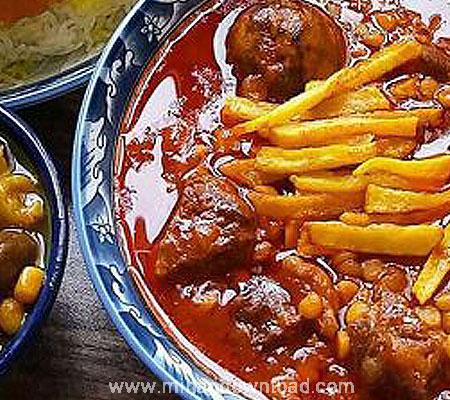 آموزش غذای ایرانی خورشت قیمه