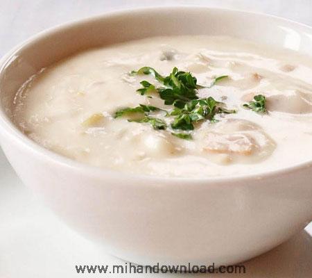 آموزش آشپزی ایرانی سوپ شیر