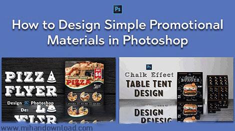 آموزش طراحی متریال های تبلیغاتی در فتوشاپ