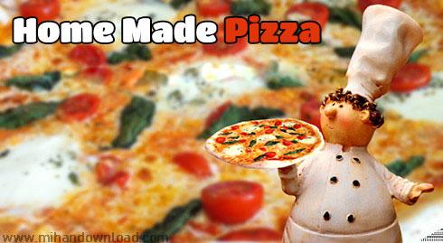 آموزش پخت یک پیتزای خانگی