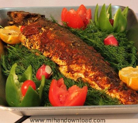 آموزش غذای ایرانی ماهی شکم پر