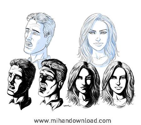 آموزش طراحی چهره افراد