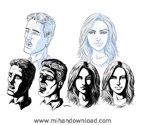 آموزش ساخت چهره های کامیک بوکی در Sketchbook Pro 8