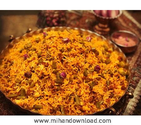 آموزش آشپزی ایرانی لوبیا پلو