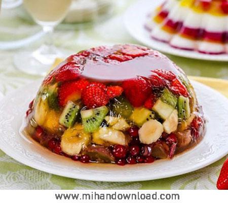 آموزش درست کردن کیک ژله میوه ای