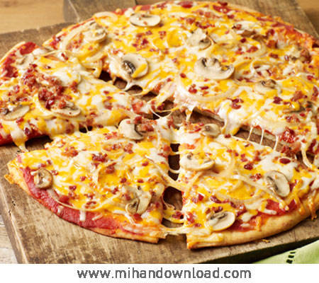 آموزش پخت پیتزا بیکن