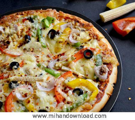 آموزش پیتزا سبزیجات