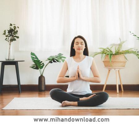 آموزش حرکات کششی پایه یوگا